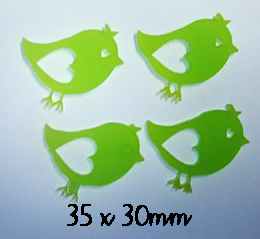 Little birdies, Birds Pack of 4 , Acrylic,wood or chipboard, Min